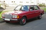 Car specs and fuel consumption for Mercedes W123