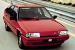 Car specs and fuel consumption for Citroen BX
